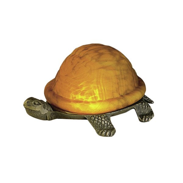 Turtle Animals Art Glass Accent Table Lamp by Meyda Tiffany