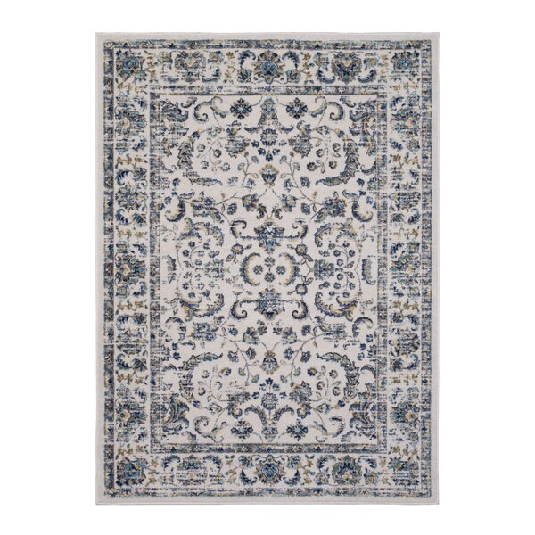 Emmalynn Bordered Ivory Area Rug by Ophelia & Co.