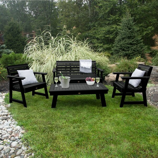 Deerpark 4 Piece Sofa Seating Group by Longshore Tides