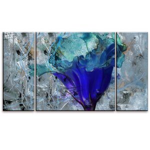 Painted Petals LX 3 Piece Painting Print on Wrapped Canvas Set by Ready2hangart