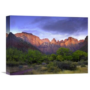 Nature Photographs Towers of The Virgin, Zion National Park, Utah by Tim Fitzharris Photographic Print on Wrapped Canvas by Global Gallery