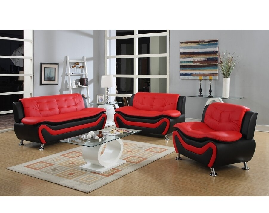 PDAEInc Roselia 3 Piece Living Room Set & Reviews