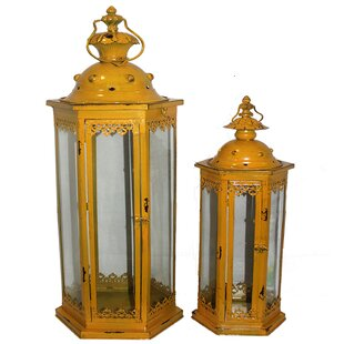 2 Piece Classic Twist Metal Lantern Set by Bloomsbury Market