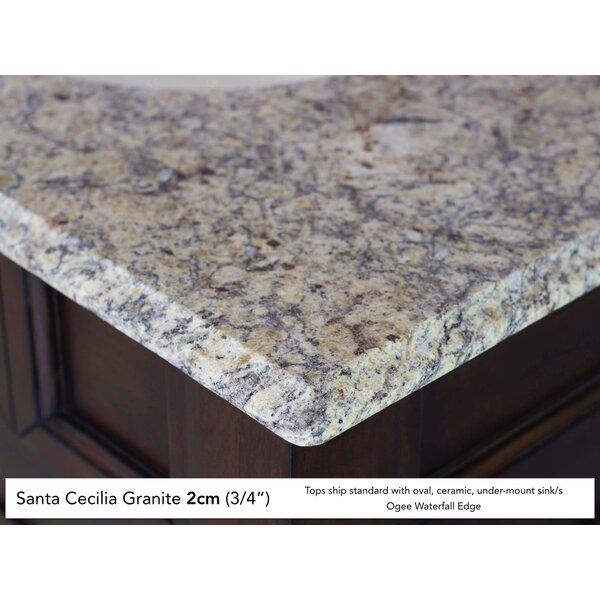 Deleon 60 Single Urban Gray Stone Top Bathroom Vanity Set by Darby Home Co