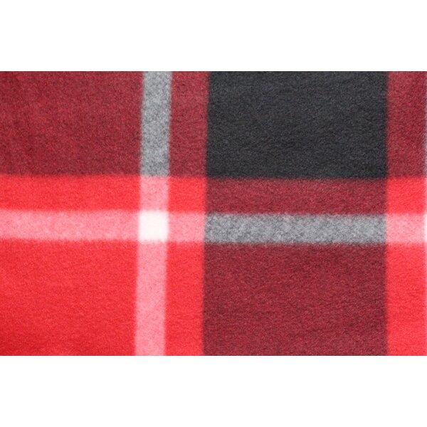 Red Plaid Fleece Blanket by Movie Blankie