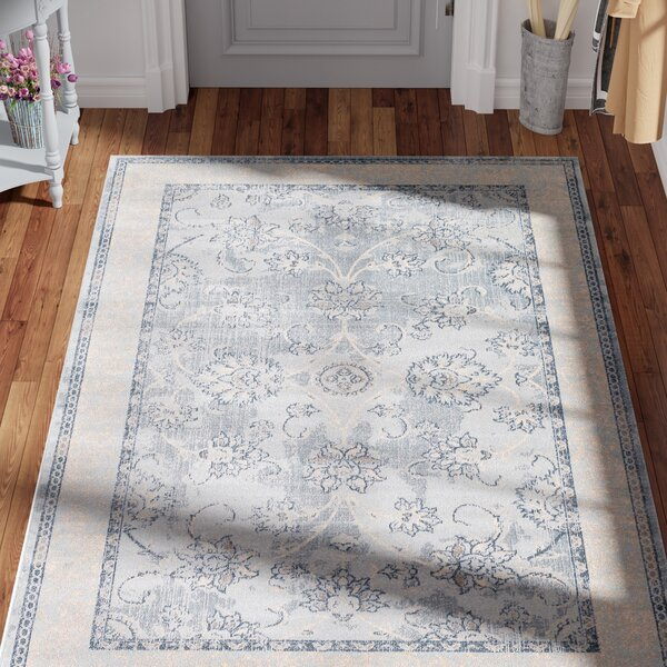 Ouellette Light Blue Area Rug by Lark Manor