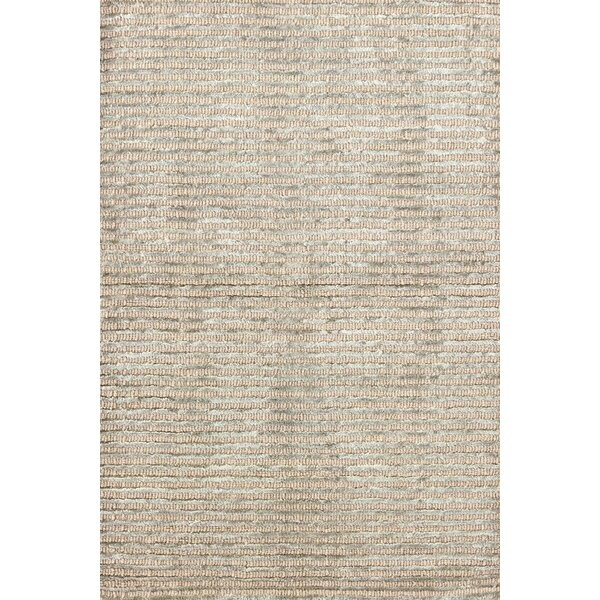 Cut Stripe Ocean Hand-Knotted Beige Area Rug by Dash and Albert Rugs