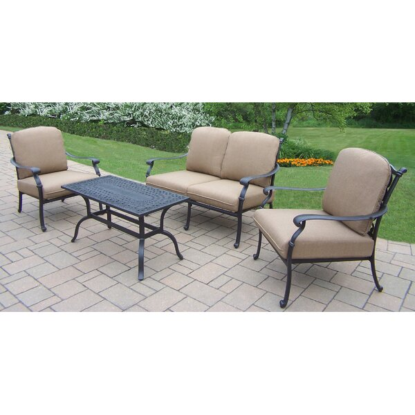 Bosch 4 Piece Conversation Set with Cushions by Darby Home Co