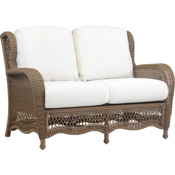 Stoneburner Loveseat with Cushion by Bay Isle Home Bay Isle Home