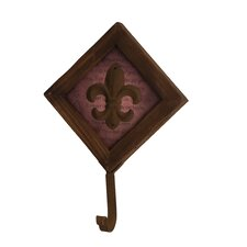 Fleur-de-lis Metal Wall Hook by Wilco Home