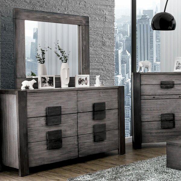 Serafin 6 Drawer Double Dresser with Mirror by Brayden Studio
