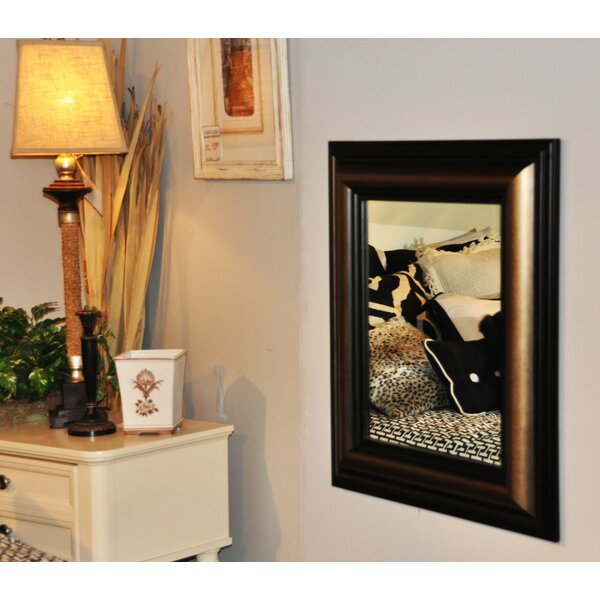 Rectangle Stepped Antiqued Wall Mirror by Darby Home Co