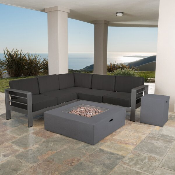 Royalston 5 Piece Sectional Seating Group with Cushions by Brayden Studio