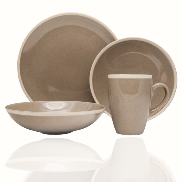 Sahara 16 Piece Dinnerware Set, Service for 4 by Red Vanilla