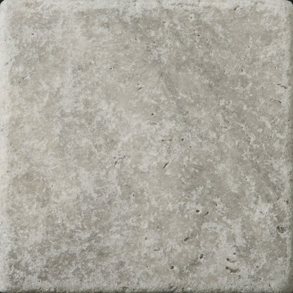 Travertine 6 x 6 Tile in Ancient Tumbled Silver by Emser Tile