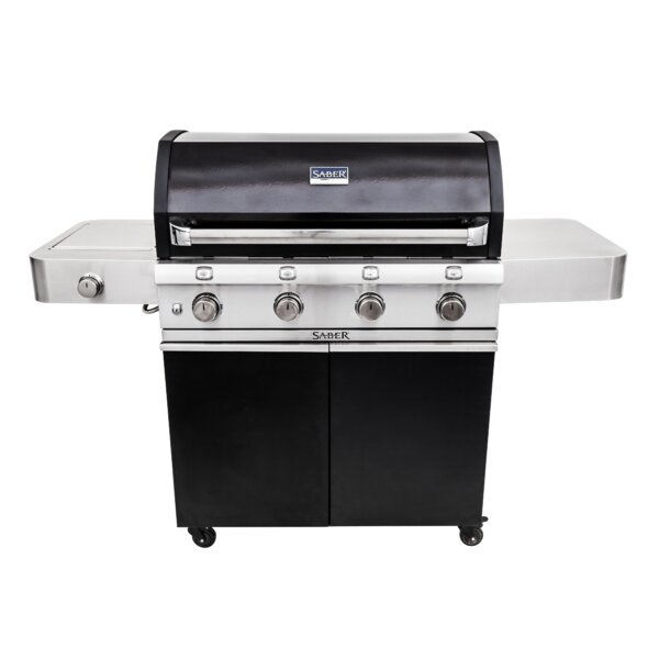 Cast Cart Gas and Charcoal Grill by Saber