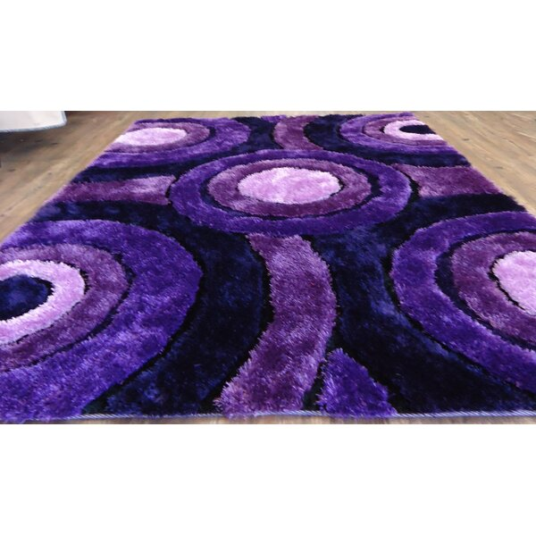 Queanbeyan Shaggy Hand-Tufted Lavender Area Rug by Latitude Run