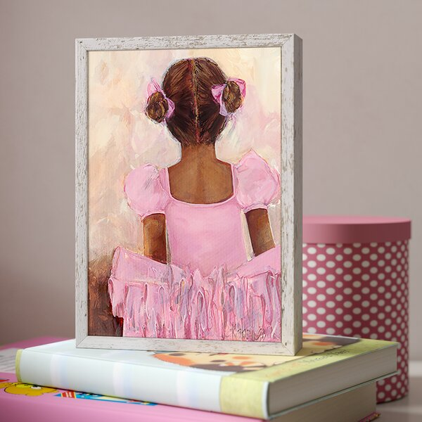 Deandra Perfect Ballerina African American Framed Canvas Art by Harriet Bee