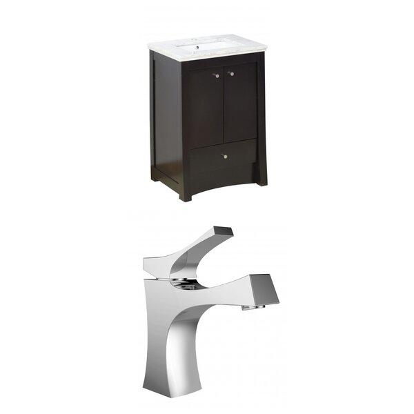 Kimbrell Exquisite Floor Mount 24 Single Bathroom Vanity Set by Royal Purple Bath Kitchen