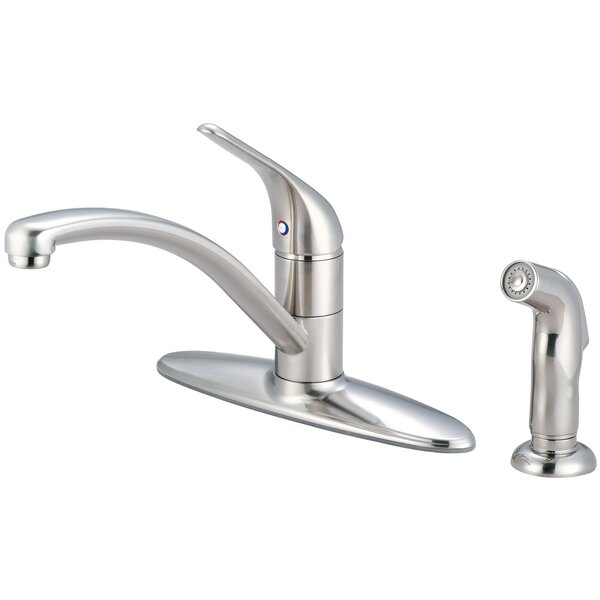 Legacy Single Handle Kitchen Faucet with Side Spray by Pioneer