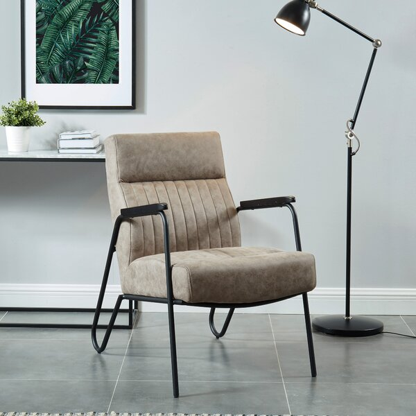 Marybeth Faux Suede/Metal Side Chair by Wrought Studio