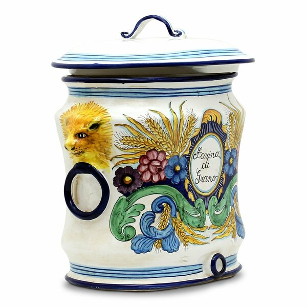 Majolica Oval Kitchen Canister