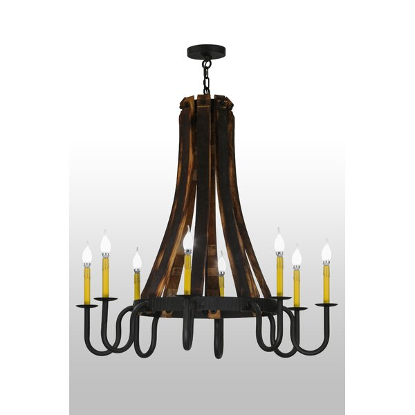 Damascus 8 - Light Candle Style Empire Chandelier by Loon Peak Loon Peak