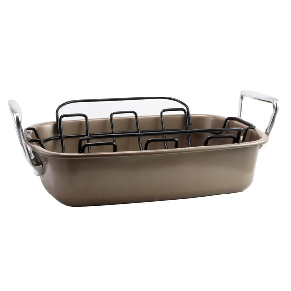 13.5 Harvest Nonstick Roaster with Rack by Gibson Home| @ $44.99