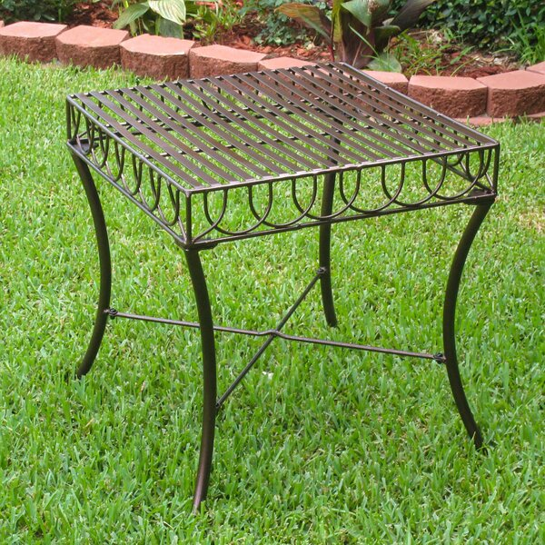 Metal Side Table by International Caravan International Caravan