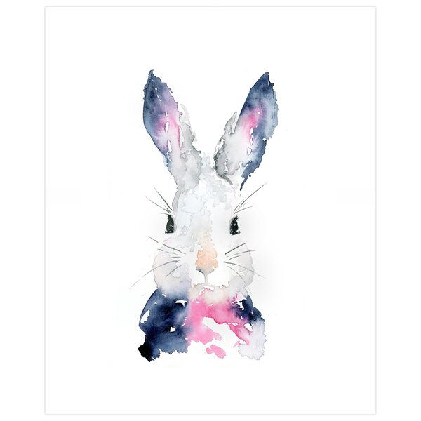 Dayanara Watercolor Bunny by SeeWhyZhang Design Paper Print by Ebern Designs