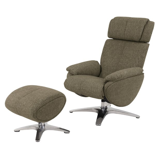 Knollview Manual Swivel Recliner with Ottoman by Brayden Studio
