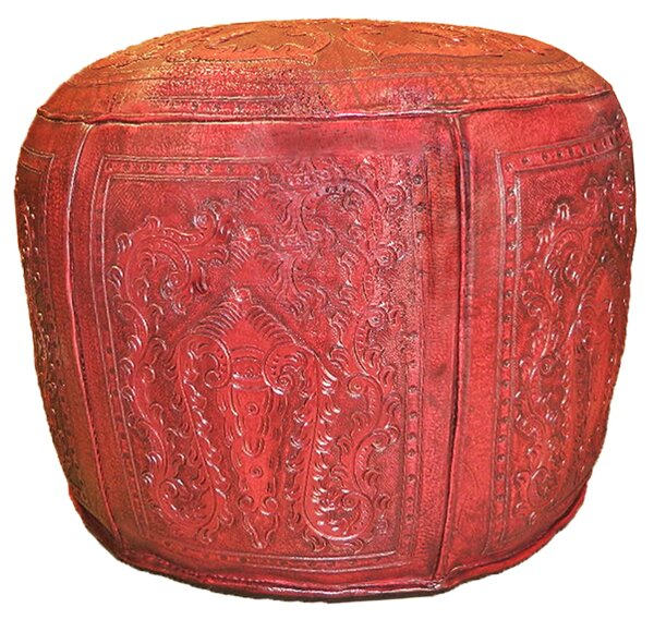 Check Price Navarette Leather Pouf
