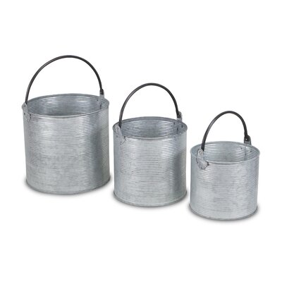 3 Piece Metal Bucket Set Joss Main