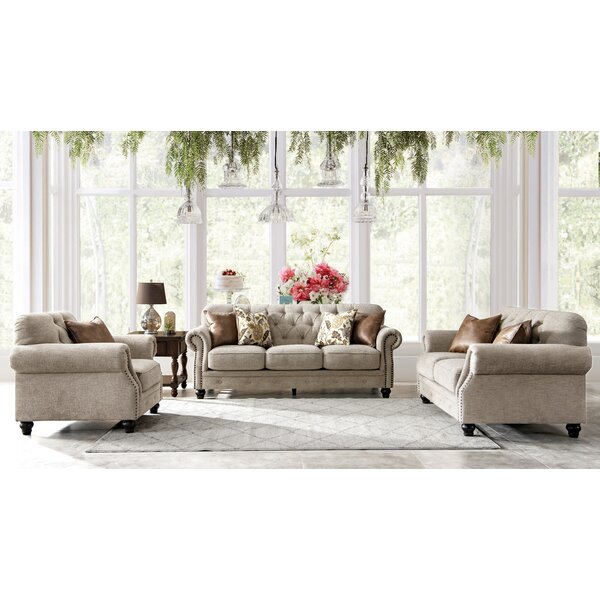 Latorre Chesterfield Configurable Living Room Set by Charlton Home