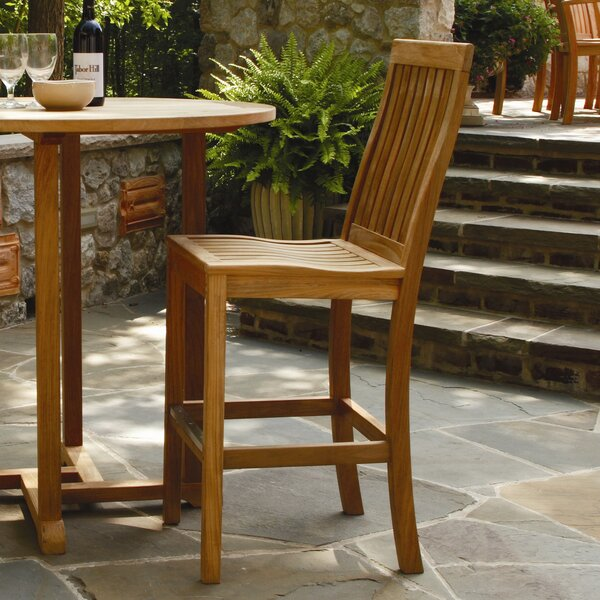Monterey 28 Teak Patio Bar Stool by Three Birds Casual