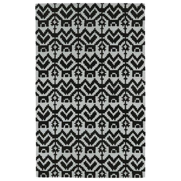 Hinton Charterhouse Hand-Tufted Black Area Rug by Wrought Studio