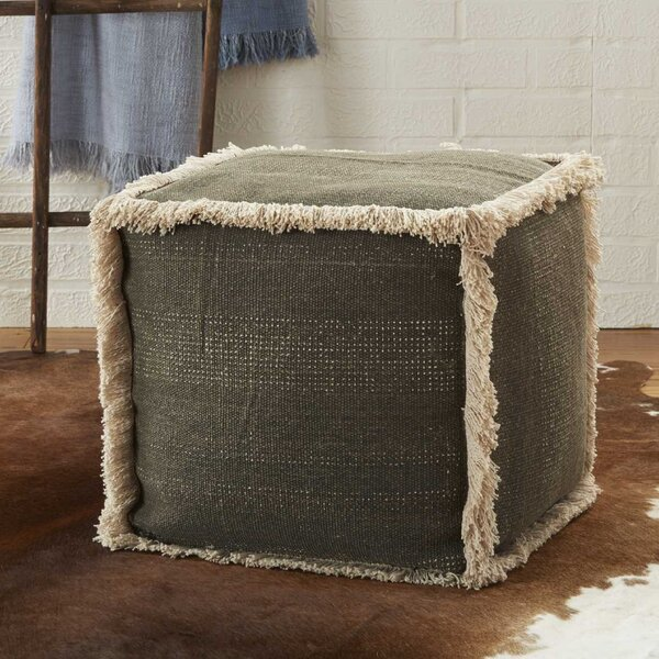 Mika Solid Pouf by Bungalow Rose