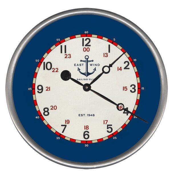 Woodsetter East Wind Wall Clock by Breakwater Bay