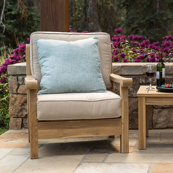 Chasity Teak Patio Chair with Cushion by August Grove