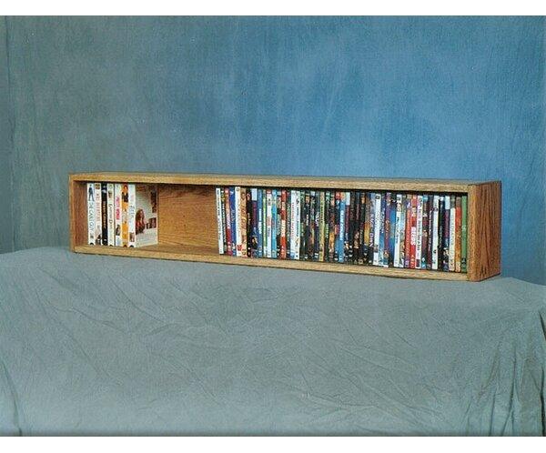 100 Series 88 DVD Multimedia Tabletop Storage Rack by Wood Shed