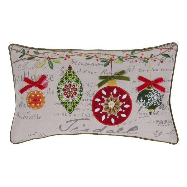 Broad Brook Mini Ornaments Throw Pillow by Alcott Hill