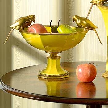 Bird Fruit Decorative Bowl. Shop Drew's Honeymoon House! {Kitchen & Dining Room} #PropertyBrothers