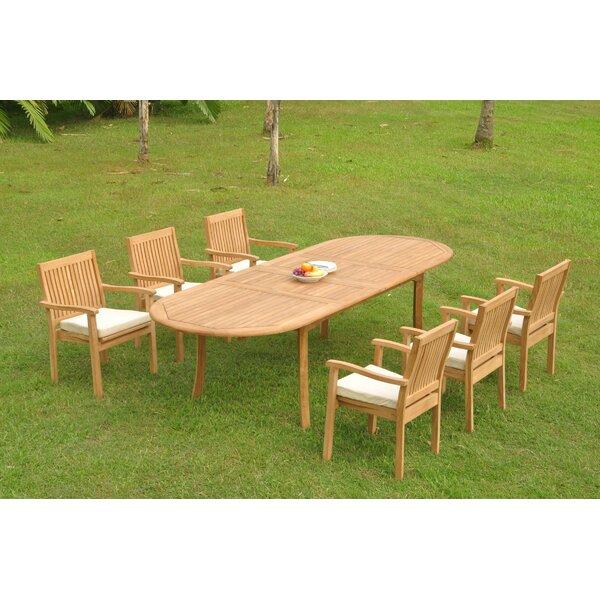 Minna 7 Piece Teak Dining Set