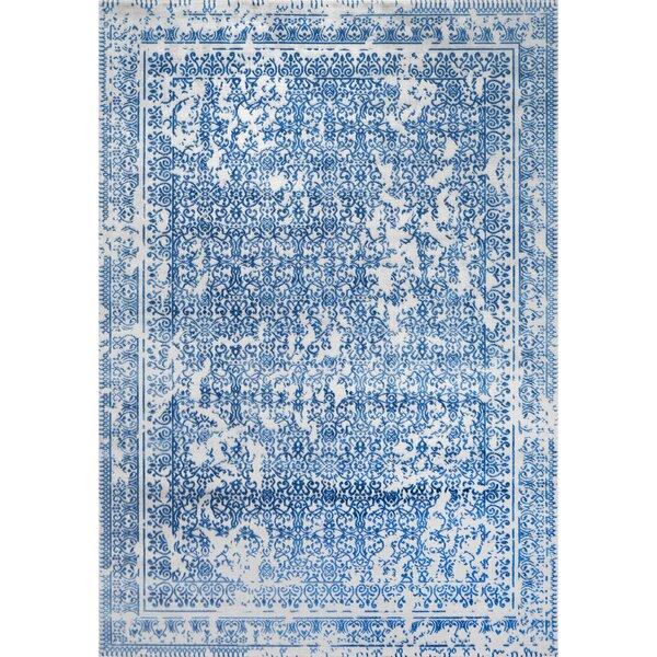 Rapier Gray/Blue Area Rug by Bungalow Rose