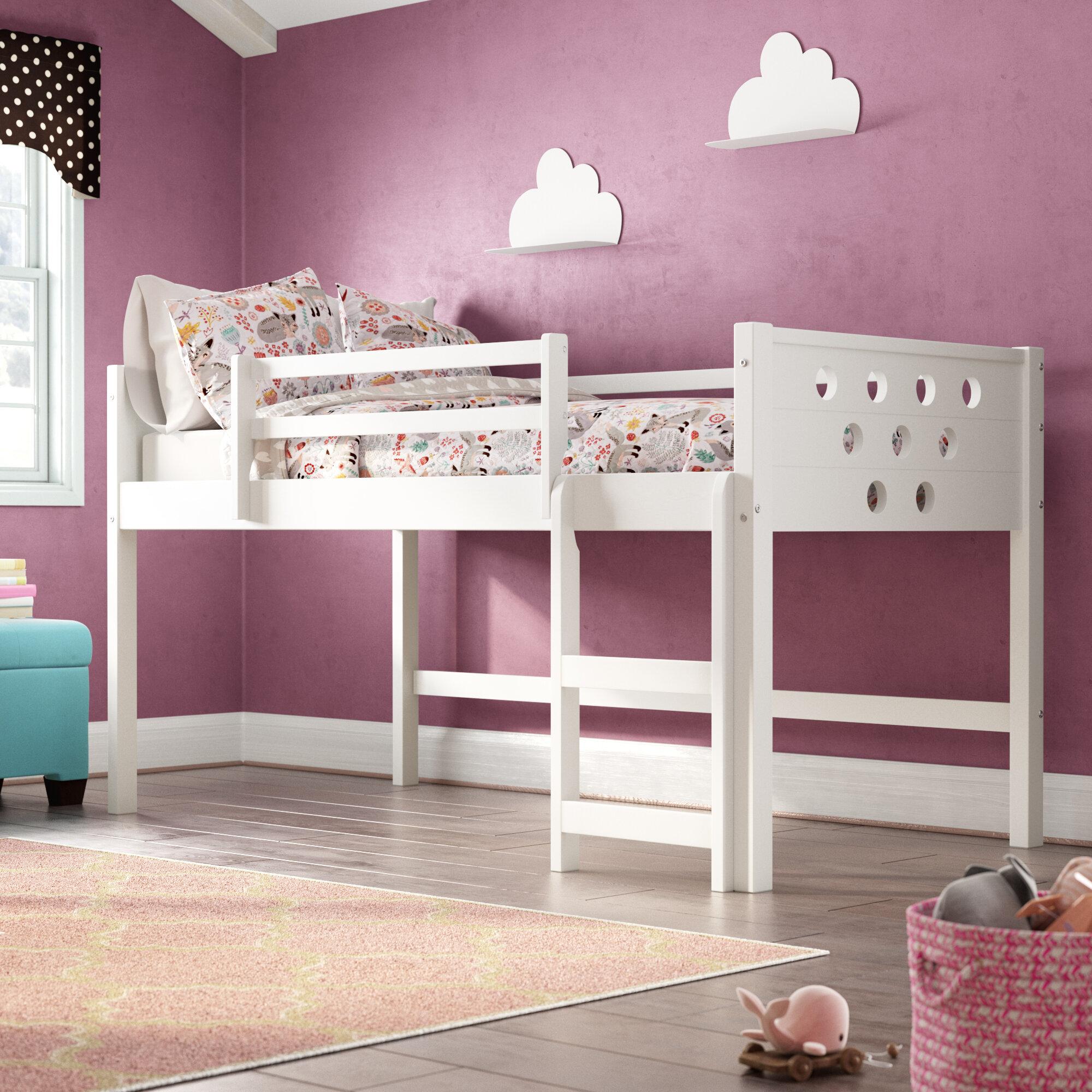 Viv Rae Henfield Twin Low Loft Bed Reviews Wayfair