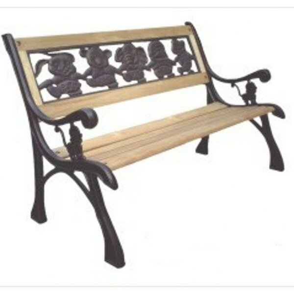 Friendship Kids Wood and Cast Iron Park Bench by DC America