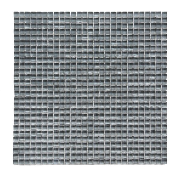 Atlantis 0.25 x 0.25 Glass Mosaic Tile in Beluga Dark Gray by Solistone
