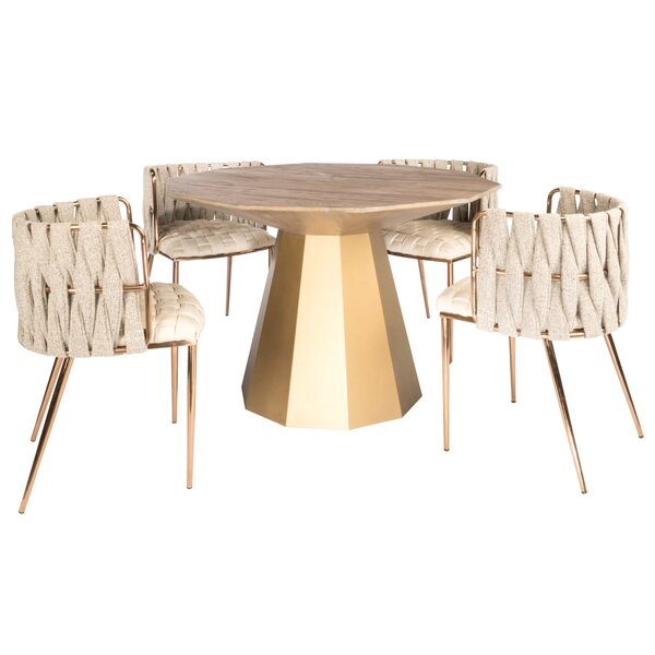 Morpeth 5 Piece Dining Set by Everly Quinn Everly Quinn