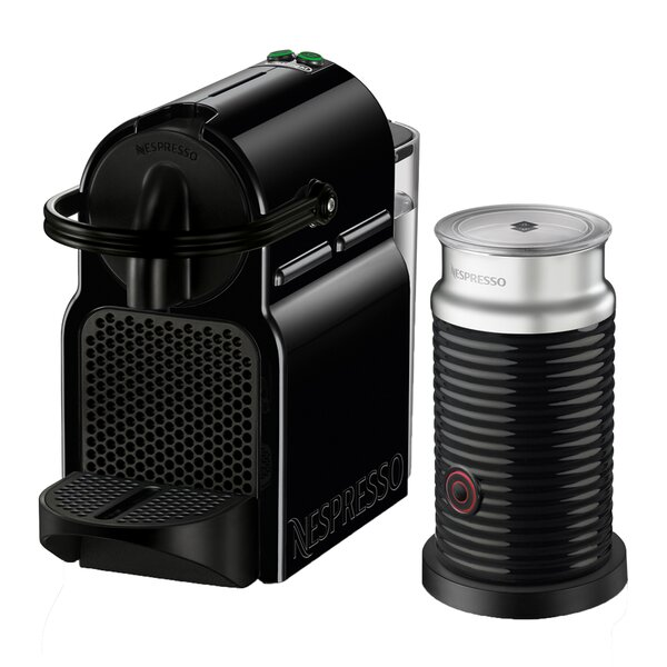 DeLonghi Nespresso Inissia Single-Serve Espresso Machine with Aeroccino Milk Frother by Nespresso