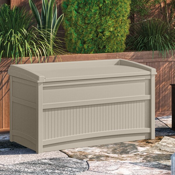 Outdoor 50 Gallon Resin Deck Box By Suncast